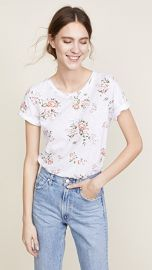 MONROW Floral Crew Tee at Shopbop