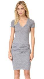 MONROW Short Sleeve Shirred Dress at Shopbop