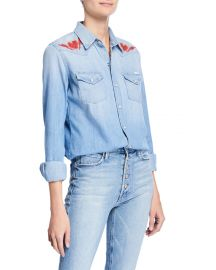 MOTHER All My Exes Button-Down Denim Shirt at Neiman Marcus
