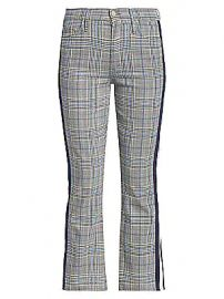 MOTHER - Insider Plaid Racing Stripes Trousers at Saks Fifth Avenue