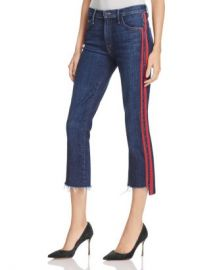 MOTHER Insider Step Crop Fray Jeans in Speed Racer Women - Bloomingdale s at Bloomingdales