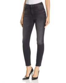 MOTHER Looker High-Rise Ankle Fray Skinny Jeans in Night Hawk  Women - Bloomingdale s at Bloomingdales