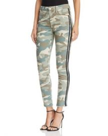 MOTHER Looker High-Rise Camo Track Stripe Skinny Jeans in See Me Run Black - 100  Exclusive  Women - Bloomingdale s at Bloomingdales