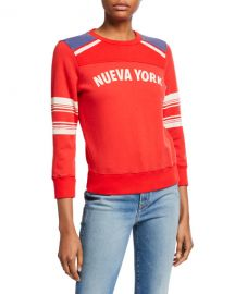 MOTHER The 1 2  amp  1 2 Koozie NY Pullover Sweater at Neiman Marcus