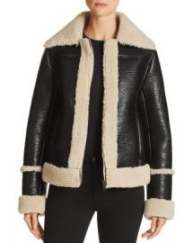MOTHER The Boxy Faux Shearling Moto Jacket Women - Bloomingdale s at Bloomingdales