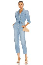 MOTHER The Half Spring Take-Off Ankle Jumpsuit in Zapped   FWRD at Forward