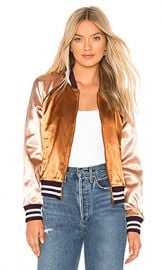 MOTHER The Letterman Zip Jacket in Two Sides Of The Same Coin from Revolve com at Revolve