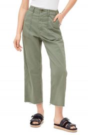 MOTHER The Patch Pocket Frayed Ankle Military Pants   Nordstrom at Nordstrom