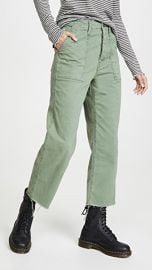MOTHER The Patch Pocket Private Ankle Fray Pants at Shopbop