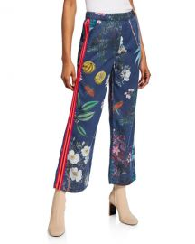 MOTHER The Quickie Greaser Ankle Printed Pants at Neiman Marcus