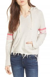 MOTHER The Square Raw Hem Hoodie   Nordstrom at Nordstrom