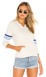 MOTHER The Square Tear Fray Sweatshirt in Multi Blues from Revolve com at Revolve