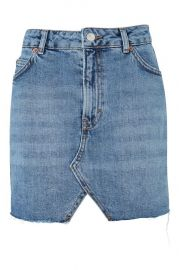MOTO Denim Mini Skirt at Topshop