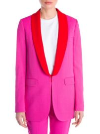 MSGM - CONTRAST LAPEL BLAZER at Saks Fifth Avenue