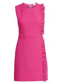 MSGM - Sleeveless Side Ruffle Crepe Mini Dress at Saks Fifth Avenue