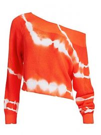 MSGM - Tie-Dye Off-Shoulder Knit Sweater at Saks Fifth Avenue