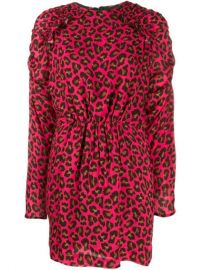 MSGM Animal Print Mini Dress - Farfetch at Farfetch