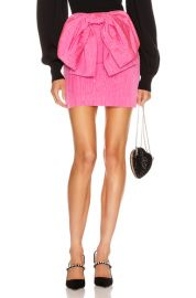 MSGM Bow Mini Skirt in Fuchsia   FWRD at Forward
