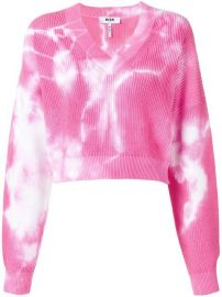 MSGM Cropped V-neck Sweatshirt - Farfetch at Farfetch