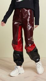 MSGM Faux Leather Track Pants at Shopbop