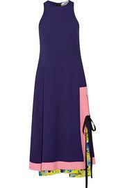 MSGM Layered printed crepe dress at Net A Porter