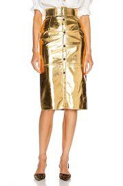 MSGM Long Metallic Skirt in Gold   FWRD at Forward