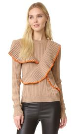 MSGM Long Sleeve Ruffle Pullover at Shopbop