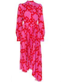 MSGM Pleated Pussy Bow Dress  - Farfetch at Farfetch