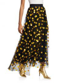 MSGM Polka Dot Tulle Long Skirt at Neiman Marcus