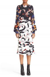 MSGM Print Crepe Dress at Nordstrom