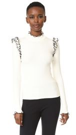 MSGM Ribbed Ruffle Sweater at Shopbop