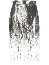 MSGM Sequin Fringed Skirt - Farfetch at Farfetch
