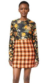MSGM Silk  amp  Plaid Dress at Shopbop