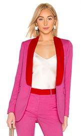 MSGM Two Tone Blazer in Hot Pink from Revolve com at Revolve