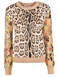MSGM leopard print sweater at Italist