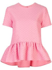 MSGM peplum-hem Cloqu   Top - Farfetch at Farfetch