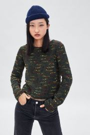 MULTICOLORED CHENILLE SWEATER at Zara