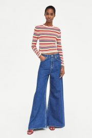 MULTICOLORED STRIPED SWEATER at Zara