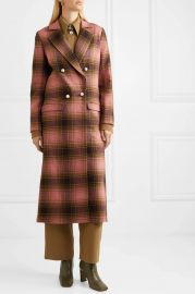 Mable embellished double-breasted checked wool coat at Net A Porter
