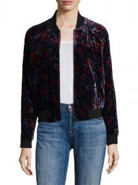 Mace Floral Velvet Bomber Jacket at Saks Off Fifth Avenue