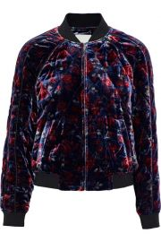 Mace quilted floral-print velvet bomber jacket at The Outnet