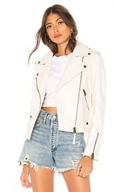 Mackage Baya Leather Jacket in White from Revolve com at Revolve