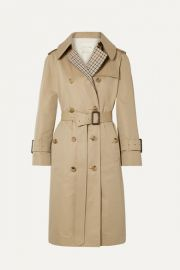 Mackintosh - Paneled cotton-gabardine and checked twill trench coat at Net A Porter