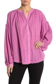Maddison Eyelet Balloon Sleeve Blouse by Free People at Nordstrom Rack