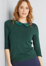 Made Meaningful Collared Sweater by Modcloth at Modcloth