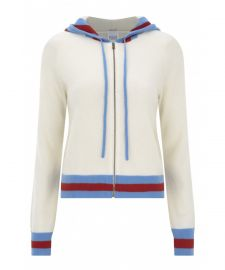 Madeleine Thompson Aqua Hoodie at Net A Porter