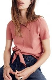 Madewell Modern Tie Front Tee at Nordstrom