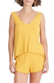 Madewell Ribbed Knit Pajama Tank Top   Nordstrom at Nordstrom