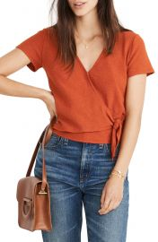 Madewell Texture  amp  Thread Wrap Top   Nordstrom at Nordstrom