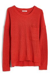 Madewell Thompson Pocket Pullover Sweater  Regular  amp  Plus Size    Nordstrom at Nordstrom